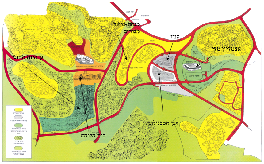 Southwest Jerusalem Road Network